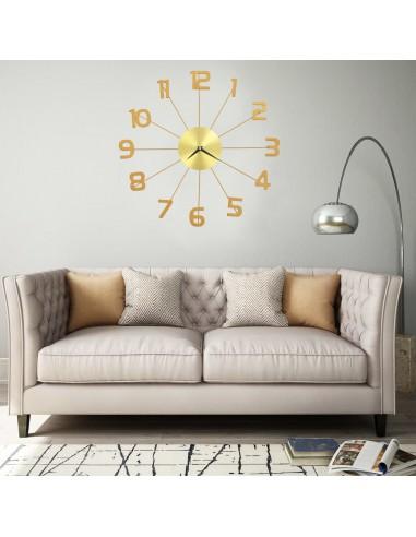 Sieninis laikrodis, auksinės spalvos, 50 cm, metalas   Sieniniai Laikrodžiai   duodu.lt