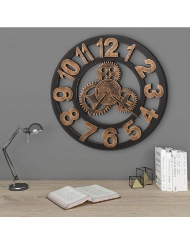 Sieninis laikrodis, auksinės ir juodos spalvos, 58 cm, metalas | Sieniniai Laikrodžiai | duodu.lt
