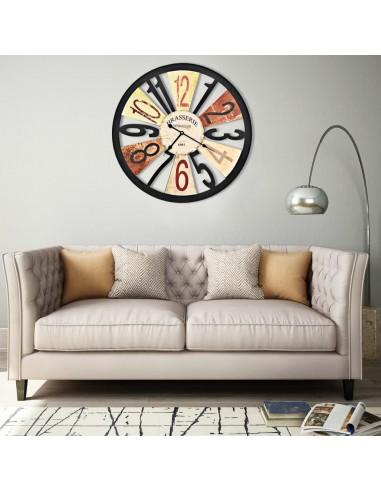 Sieninis laikrodis, įvairių spalvų, 60 cm, metalas | Sieniniai Laikrodžiai | duodu.lt