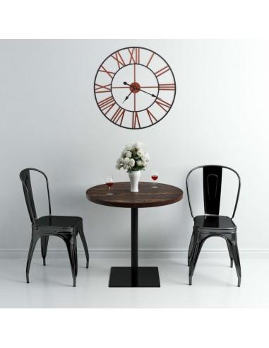 Sieninis laikrodis, raudonos spalvos, 58 cm, metalas   Sieniniai Laikrodžiai   duodu.lt