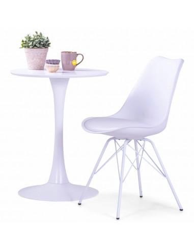 Valgomojo kėdės, 4 vnt., baltos spalvos, dirbtinė oda | Virtuvės ir Valgomojo Kėdės | duodu.lt