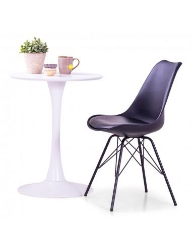 Valgomojo kėdės, 4 vnt., juodos spalvos, dirbtinė oda  | Virtuvės ir Valgomojo Kėdės | duodu.lt