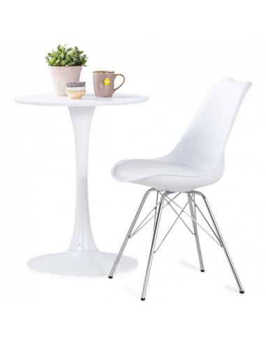 Valgomojo kėdės, 4 vnt., baltos spalvos, dirbtinė oda   Virtuvės ir Valgomojo Kėdės   duodu.lt