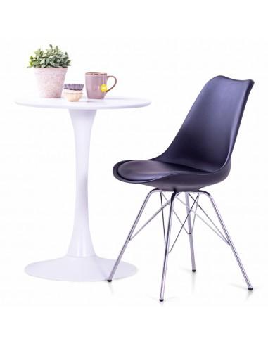 Valgomojo kėdės, 2 vnt., juodos spalvos, dirbtinė oda    Virtuvės ir Valgomojo Kėdės   duodu.lt