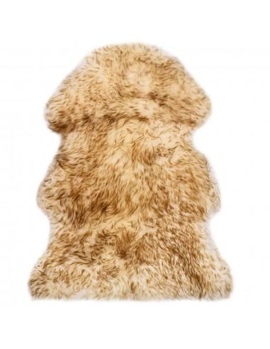 Avies kailio kilimėlis, rudos spalvos mišinys, 60x90 cm | Kilimėliai | duodu.lt