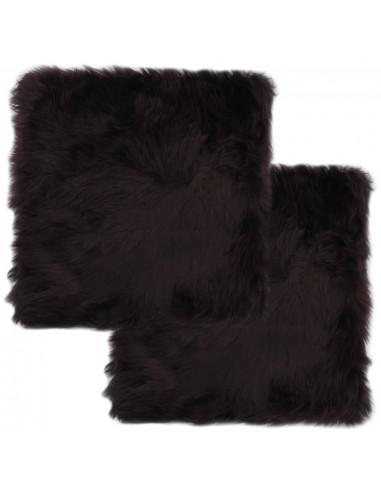 Kėdžių pagalvėlės, 2 vnt., rudos sp., 40x40cm, avies kailis | Kėdžių ir Sofos Pagalvėlės | duodu.lt
