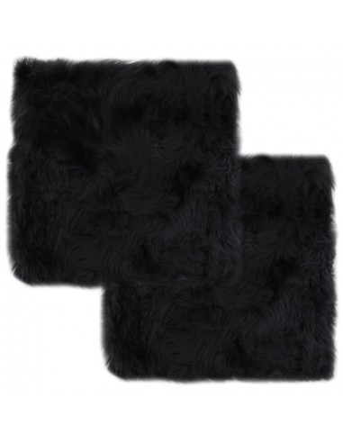 Kėdžių pagalvėlės, 2vnt., tamsiai pilkos, 40x40cm, avies kailis   Kėdžių ir Sofos Pagalvėlės   duodu.lt