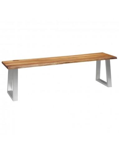 Suoliukas, 160 cm, akacijos medienos masyvas ir nerūd. plienas | Sandėlio ir Prieangio Suolai | duodu.lt