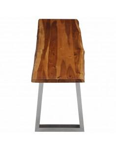 vidaXL Sudedami staliukai, 3 vnt., rausv. dalb. medienos masyvas | Žurnaliniai Staliukai | duodu.lt