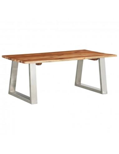 Kavos staliukas, 100x60x40cm, akacijos masyvas ir plienas  | Kavos Staliukai | duodu.lt
