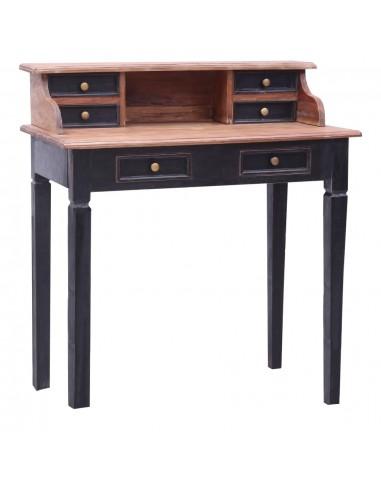 Rašomasis stalas su stalčiais, 90x50x101cm, medienos masyvas   Rašomieji Stalai   duodu.lt