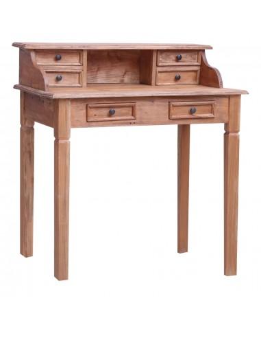 Rašomasis stalas su stalčiais, 90x50x101cm, medienos masyvas | Rašomieji Stalai | duodu.lt