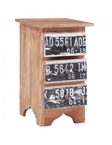 Naktinė spintelė, 30x30x51cm, perdirbtos medienos masyvas   Naktiniai Staliukai   duodu.lt