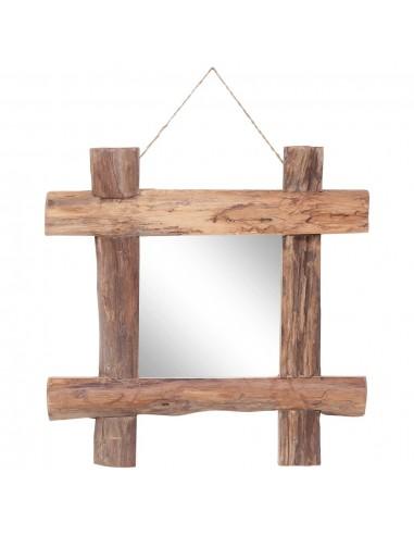Veidrodis iš rąstų, natūralus, 50x50cm, medienos masyvas   Veidrodžiai   duodu.lt