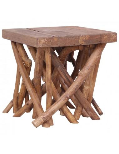 Rąstinis kavos staliukas, 40x40x40cm, medienos masyvas | Kavos Staliukai | duodu.lt