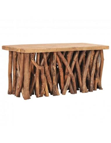 Kavos staliukas, 100x40x47,5cm, perdirbta mediena ir tikmedis | Kavos Staliukai | duodu.lt