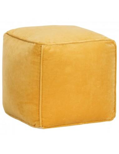 Pufas, geltonos spalvos, 40x40x40cm, medvilnės aksomas  | Pufai | duodu.lt