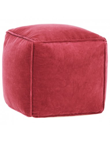 Pufas, raudonos spalvos, 40x40x40cm, medvilnės aksomas   Pufai   duodu.lt