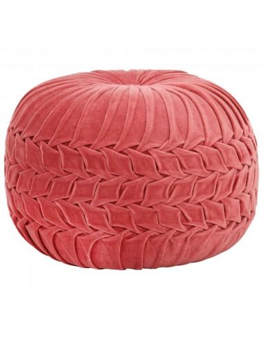 Pufas, rožinės sp., su klostėmis, 40x30cm, medvilnės aksomas   Pufai   duodu.lt