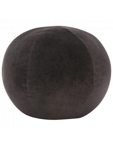 Pufas, antracito spalvos, 50x35cm, medvilnės aksomas  | Pufai | duodu.lt