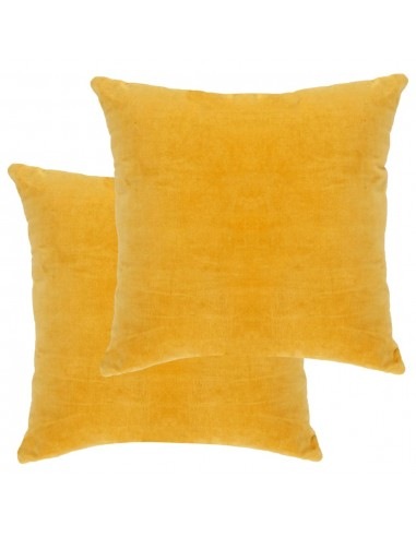 Pagalvėlės, 2vnt., geltonos spalvos, 45x45cm, medvilnės aksomas | Dekoratyvinės pagalvėlės | duodu.lt