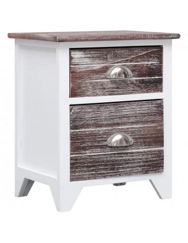 Naktinis staliukas, rud. ir balt. sp., 38x28x45cm, paulov. med. | Naktiniai Staliukai | duodu.lt