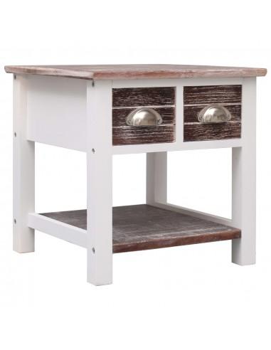 Šoninis staliukas, rudas, 40x40x40cm, paulovnijos mediena | Žurnaliniai Staliukai | duodu.lt