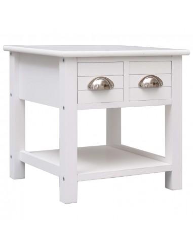 Šoninis staliukas, baltas, 40x40x40cm, paulovnijos mediena | Žurnaliniai Staliukai | duodu.lt