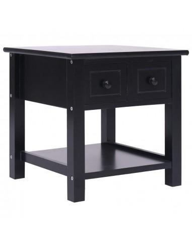 Šoninis staliukas, juodas, 40x40x40cm, paulovnijos mediena   Žurnaliniai Staliukai   duodu.lt