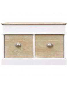 Daiktadėžė-taburetė, rudos spalvos, 40 cm, dirbtinė oda | Sandėlio ir Prieangio Suolai | duodu.lt