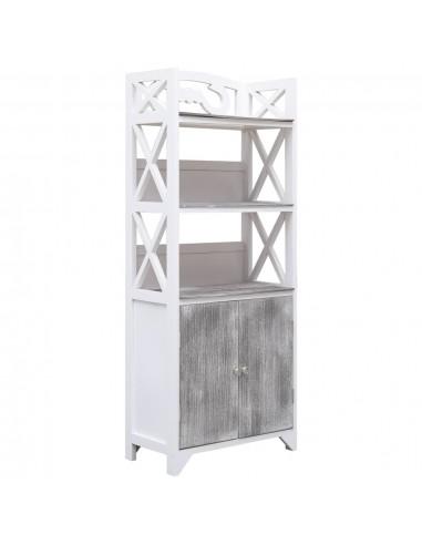 Vonios kamb. spint., balt. ir pilk., 46x24x116cm, paulov. med. | Spintos ir biuro spintelės | duodu.lt