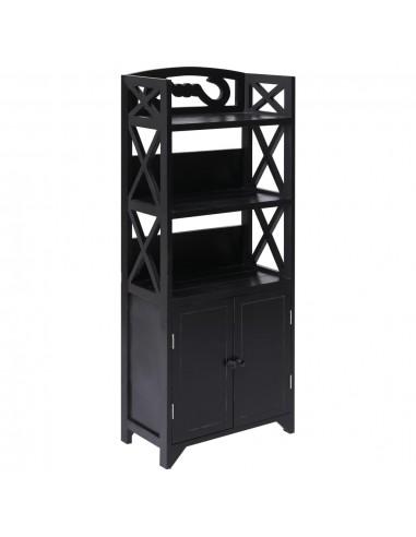Vonios kambario spintelė, juodos sp., 46x24x116cm, paulov. med. | Spintos ir biuro spintelės | duodu.lt