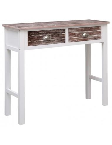 Konsolinis staliukas, rudos spalvos, 90x30x77 cm, mediena | Žurnaliniai Staliukai | duodu.lt