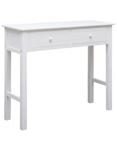 Konsolinis staliukas, baltos spalvos, 90x30x77 cm, mediena   Žurnaliniai Staliukai   duodu.lt