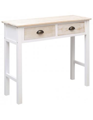Konsolinis staliukas, baltos ir natūr. sp., 90x30x77cm, mediena | Žurnaliniai Staliukai | duodu.lt