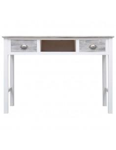 Konsol. staliukas su 3 stalčiais, 120x30x76cm, eglės med. mas.   Žurnaliniai Staliukai   duodu.lt