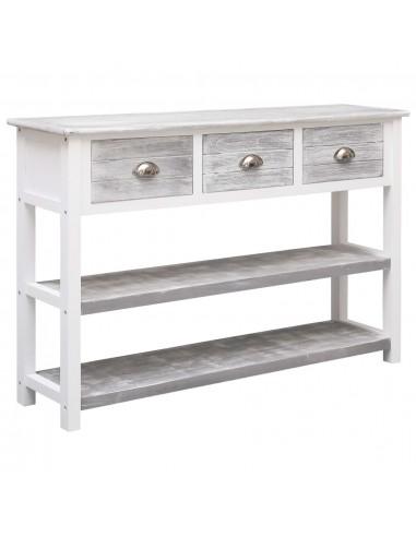 Šoninė spintelė, sendintos pilkos spalvos, 115x30x76cm, mediena    Bufetai ir spintelės   duodu.lt