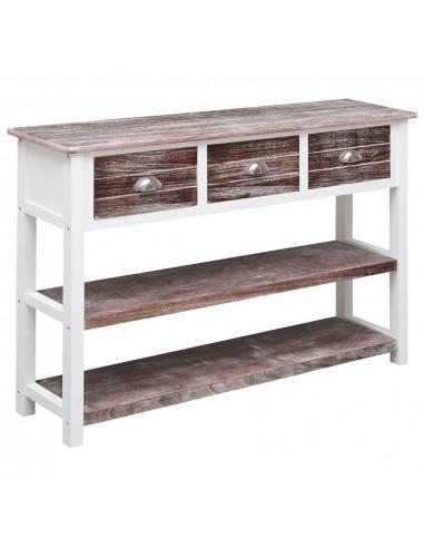 Šoninė spintelė, sendinta ruda, 115x30x76cm, mediena  | Bufetai ir spintelės | duodu.lt