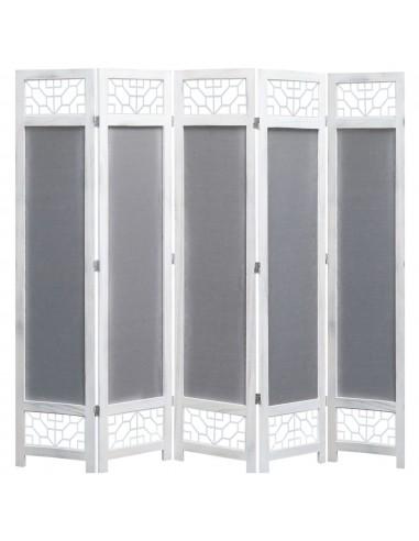 Kambario pertvara, 5 dalių, pilkos spalvos, 175x165 cm, audinys   Kambario Pertvaros   duodu.lt