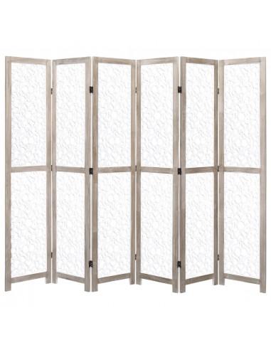 Kambario pertvara, 6 dalių, baltos spalvos, 210x165 cm, mediena | Kambario Pertvaros | duodu.lt