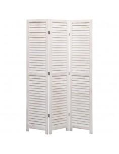 vidaXL Daiktadėžė, baltos sp., 110x40x45cm, akacijos medienos masyvas | Sandėliavimo Dėžės | duodu.lt