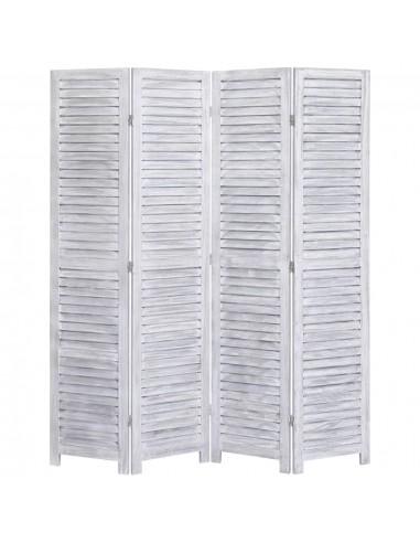 Kambario pertvara, 4 dalių, pilkos spalvos, 140x165 cm, mediena | Kambario Pertvaros | duodu.lt