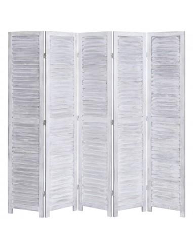 Kambario pertvara, 5 dalių, pilkos spalvos, 175x165 cm, mediena | Kambario Pertvaros | duodu.lt
