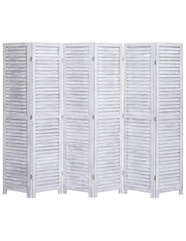 Kambario pertvara, 6 dalių, pilkos spalvos, 210x165 cm, mediena | Kambario Pertvaros | duodu.lt