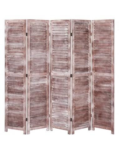 Kambario pertvara, 5 dalių, rudos spalvos, 175x165 cm, mediena | Kambario Pertvaros | duodu.lt
