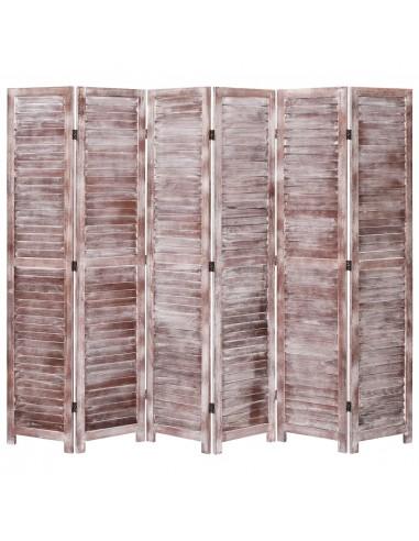 Kambario pertvara, 6 dalių, rudos spalvos, 210x165 cm, mediena | Kambario Pertvaros | duodu.lt