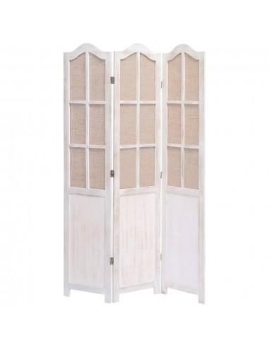 Kambario pertvara, 3 dalių, baltos spalvos, 105x165cm, audinys | Kambario Pertvaros | duodu.lt