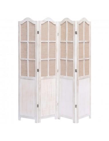 Kambario pertvara, 4 dalių, baltos spalvos, 140x165cm, audinys   Kambario Pertvaros   duodu.lt