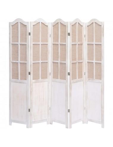Kambario pertvara, 5 dalių, baltos spalvos, 175x165cm, audinys | Kambario Pertvaros | duodu.lt