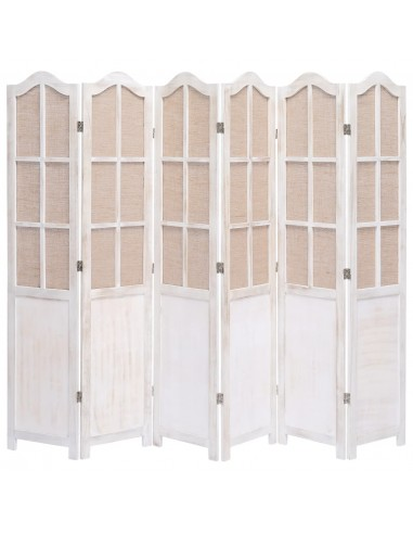 Kambario pertvara, 6 dalių, baltos spalvos, 210x165cm, audinys | Kambario Pertvaros | duodu.lt